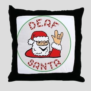 Deaf Santa Throw Pillow