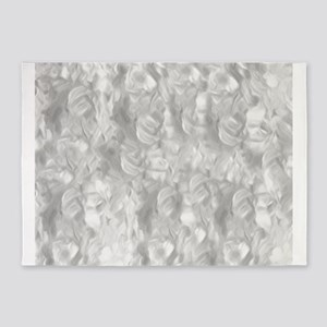 Abstract Silver Background 5'x7'Area Rug