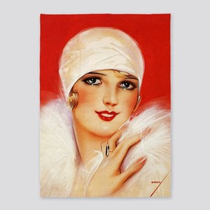 Pinup Girl Flapper 5'x7'area Rug