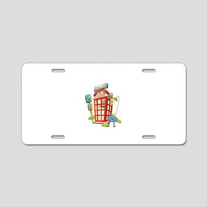 Toy Telephone Booth Aluminum License Plate