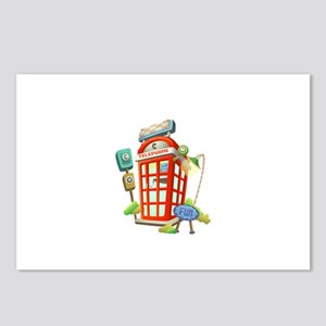 Toy Telephone Booth Postcards (Package of 8)