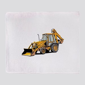 Earth Moving Tractor Throw Blanket