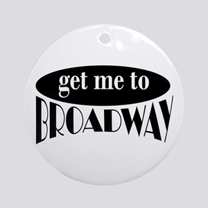 To Broadway Ornament (Round)