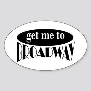 To Broadway Oval Sticker