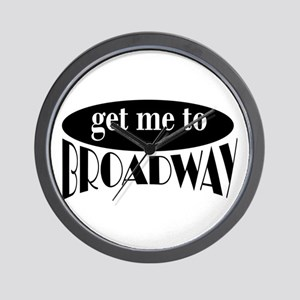 To Broadway Wall Clock