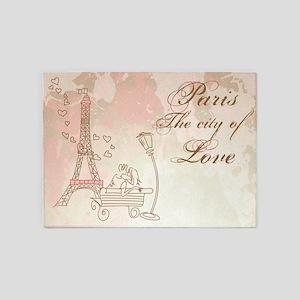 Paris - Eiffel Tower 5'x7'Area Rug