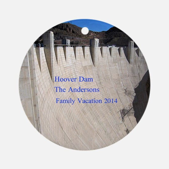 Personalized Hoover Dam Christmas Ornament (round)
