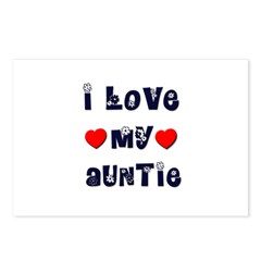 I Love MY AUNTIE Postcards (Package of 8)