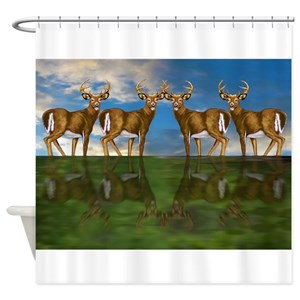 White Tail Deer Shower Curtains