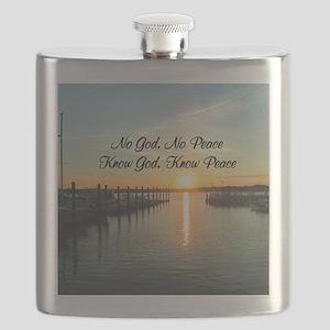 GOD IS PEACE Flask