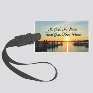 GOD IS PEACE Large Luggage Tag