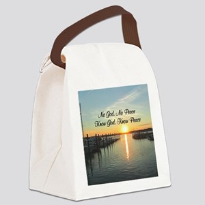 GOD IS PEACE Canvas Lunch Bag