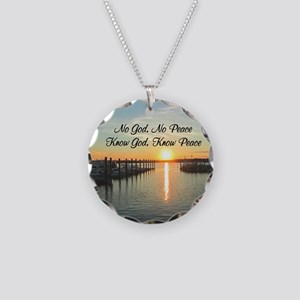 GOD IS PEACE Necklace Circle Charm