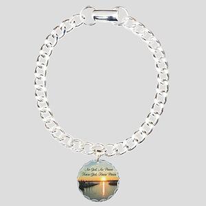 GOD IS PEACE Charm Bracelet, One Charm