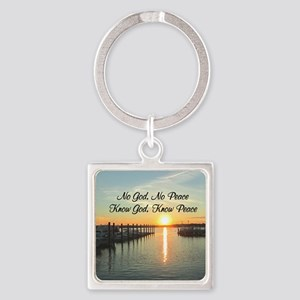 GOD IS PEACE Square Keychain