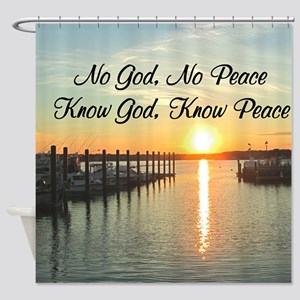 GOD IS PEACE Shower Curtain