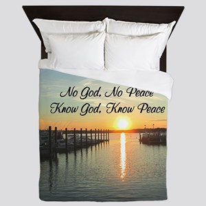 GOD IS PEACE Queen Duvet