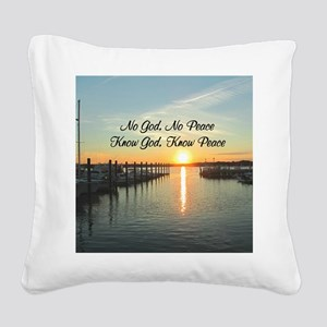 GOD IS PEACE Square Canvas Pillow