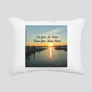GOD IS PEACE Rectangular Canvas Pillow