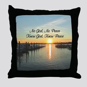 GOD IS PEACE Throw Pillow