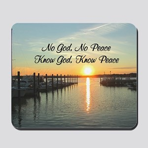 GOD IS PEACE Mousepad