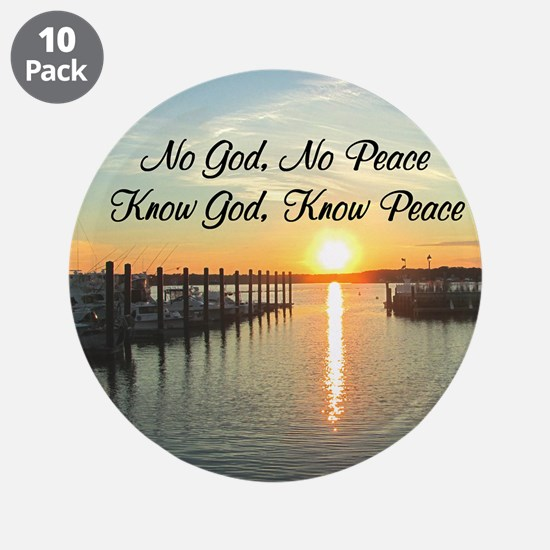 "GOD IS PEACE 3.5"" Button (10 pack)"