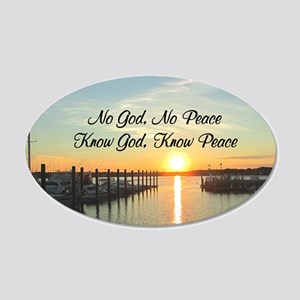 GOD IS PEACE 20x12 Oval Wall Decal