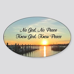GOD IS PEACE Sticker (Oval)