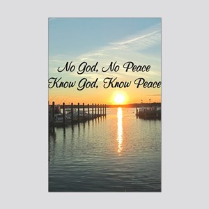 GOD IS PEACE Mini Poster Print