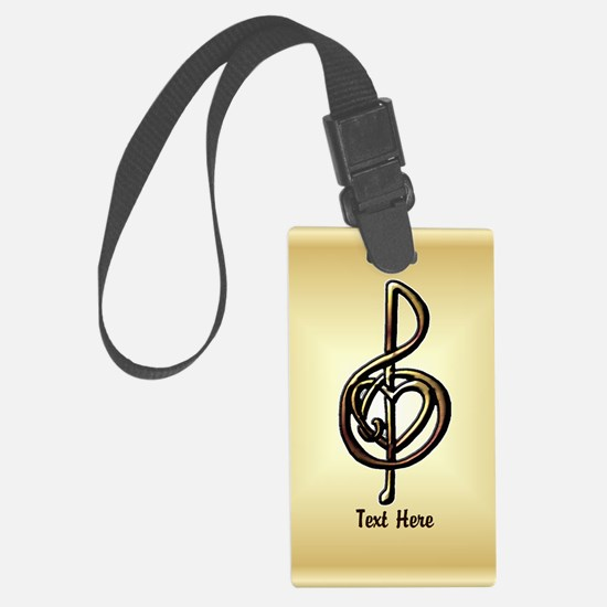 Treble Clef Music Gold Customiza Luggage Tag