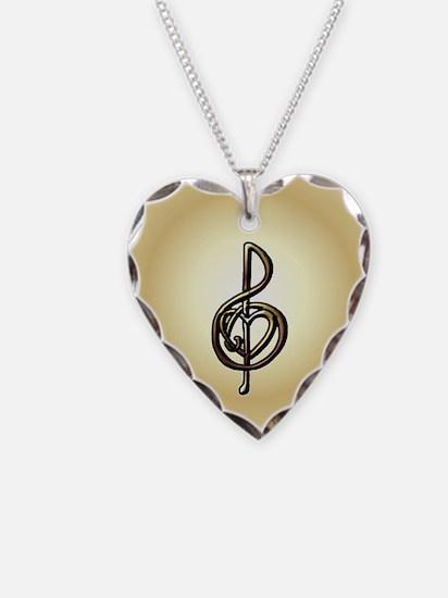 Treble Clef Music Gold Custom Necklace