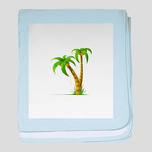 Palm Tree Plant baby blanket