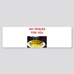 pickles Bumper Sticker