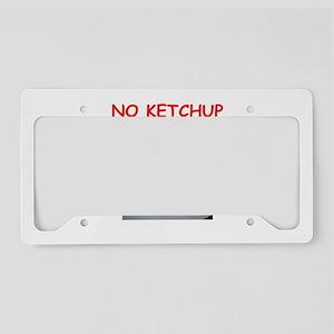 ketchup License Plate Holder