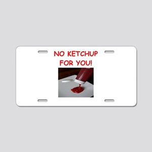 ketchup Aluminum License Plate