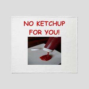 ketchup Throw Blanket