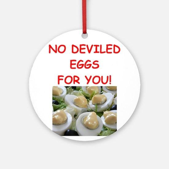 deviled eggs Ornament (Round)