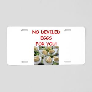 deviled eggs Aluminum License Plate