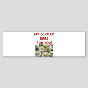 deviled eggs Bumper Sticker