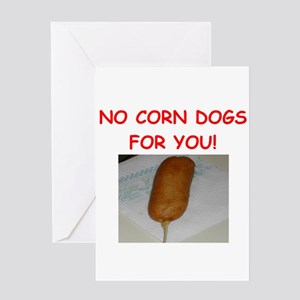 corn dogs Greeting Cards