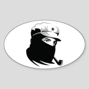 Zapatista Comandante Marcos Oval Sticker