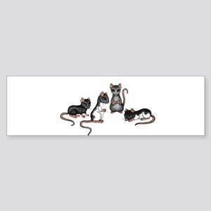 cute rats Bumper Sticker