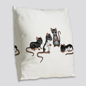 cute rats Burlap Throw Pillow