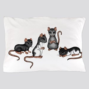 cute rats Pillow Case