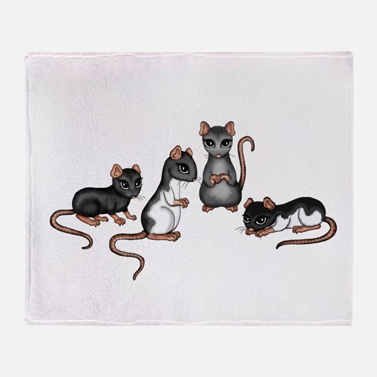 cute rats Throw Blanket