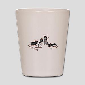 cute rats Shot Glass