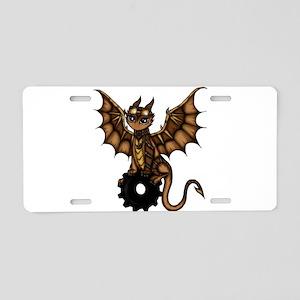 Steampunk Dragon Aluminum License Plate
