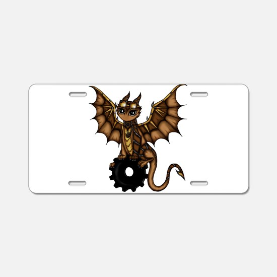 Steampunk Dragon Aluminum License Plate