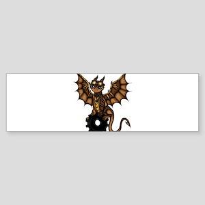 Steampunk Dragon Bumper Sticker