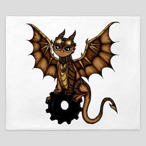 Steampunk Dragon King Duvet